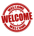 welcome sign or stamp vector image vector image