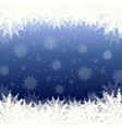 winter background snow and snowflakes vector image