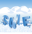 Winter sale blue tags in white snow vector image vector image