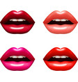 Woman Lips Set vector image vector image