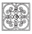 wrought-iron square panel is a french 17th vector image vector image