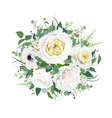 yellow white floral elegant wedding round bouquet vector image vector image