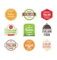 Italia cuisine label vector image