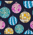 seamless bright pattern with christmas balls on vector image