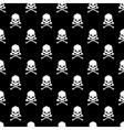 Skull and Bones seamless bacground - vector image