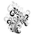 Floral pattern with reflection vector image