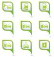 Set of 9 Transport GREEN pointer vector image