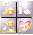 A cup of tea and a pot vector image vector image
