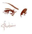 a female eye vector image