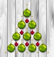 Abstract Tree Made of Christmas Balls vector image vector image