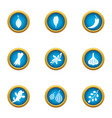 avoid icons set flat style vector image vector image