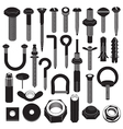 basic screws and nuts collection vector image