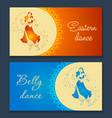 belly dance banner vector image vector image