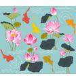 Blooming lotus vector image vector image