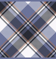 blue check pixel tartan seamless fabric texture vector image