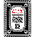 brush1 vector image vector image