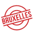 Bruxelles rubber stamp vector image