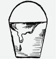 Bucket of paint vector image vector image