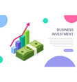 business investment concept can use for web vector image