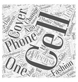 cell phone covers Word Cloud Concept vector image vector image