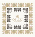 celtic knot braided frame border ornament kit vector image vector image