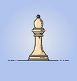 chess bishop flat icon vector image vector image