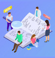 collective education group research isometric vector image vector image