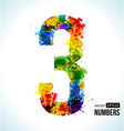 Color paint splashes Gradient Number 3 vector image