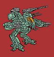 combat vehicle vector image vector image