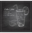 Cuba Libre on black board vector image vector image
