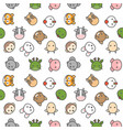 cute chinese zodiac seamless pattern in filled vector image