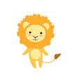 cute soft lion plush toy stuffed cartoon animal vector image vector image
