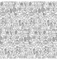 doodle food seamless pattern vector image vector image