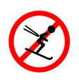 downhill skiing icon thin line for web and mobile vector image vector image
