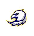 eagle head sport gaming logo badges emblem vector image vector image