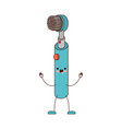 electric toothbrush cartoon in colorful silhouette vector image