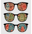 Eyeglasses with retro robots vector image vector image