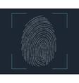 Fingerprint scanning vector image vector image