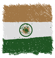 Flag of India handmade square shape vector image
