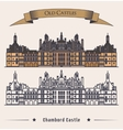 French Chateau Chambord castle building vector image vector image