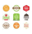 French cuisine label vector image vector image
