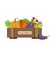 Full Crate Of Fresh Vegetables vector image vector image