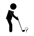 golf sport vector image vector image