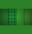 green banners checkered texture vector image