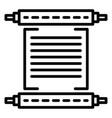 hanukkah papyrus icon outline style vector image