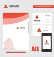 hat business logo file cover visiting card and vector image