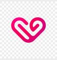 heart logo modern abstract icon vector image vector image
