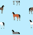 horses of different colors vector image