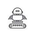 industrial army robot line icon sig vector image vector image