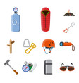 isolated object of mountaineering and peak logo vector image